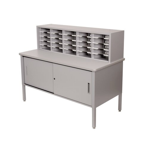 Marvel Office Furniture 25 Adjustable Slot Literature Organizer with Cabinet