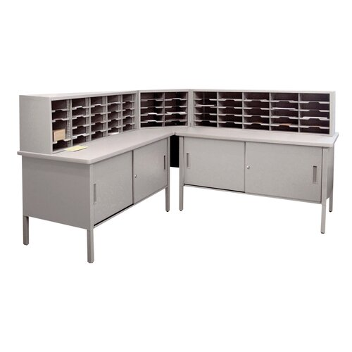 Marvel Office Furniture 60 Adjustable Slot Literature Organizer with Cabinet