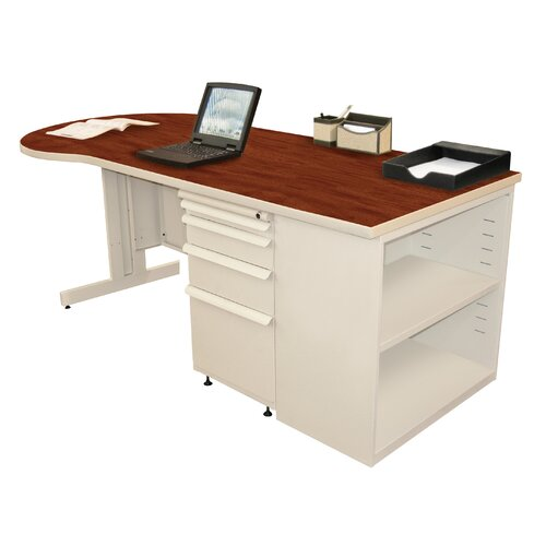 Marvel Office Furniture Zapf Executive Desk with Bookcase