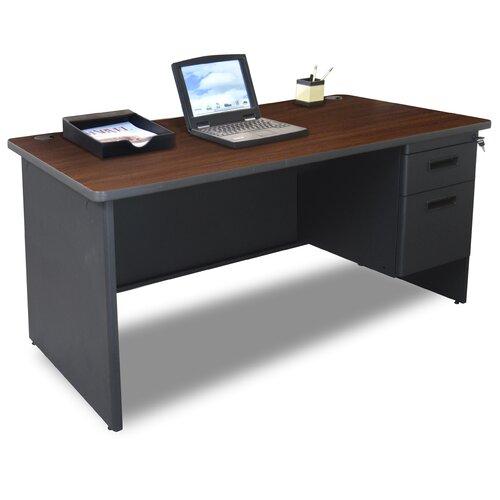 """Marvel Office Furniture Pronto 60"""" Single Pedestal Computer Desk"""