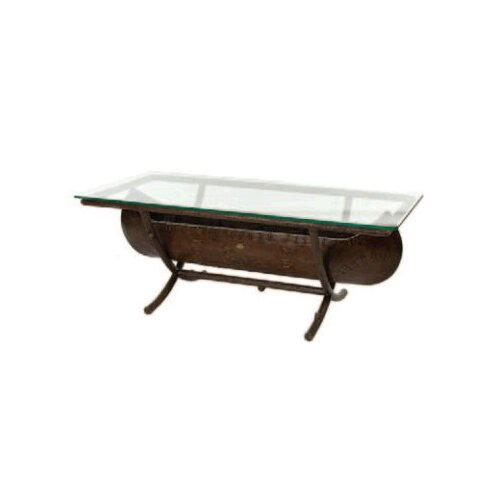 Whitecraft Chatham Run Canoe Cocktail Table with Glass Top