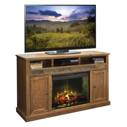 legends furniture oak creek 62 quot tv stand with electric