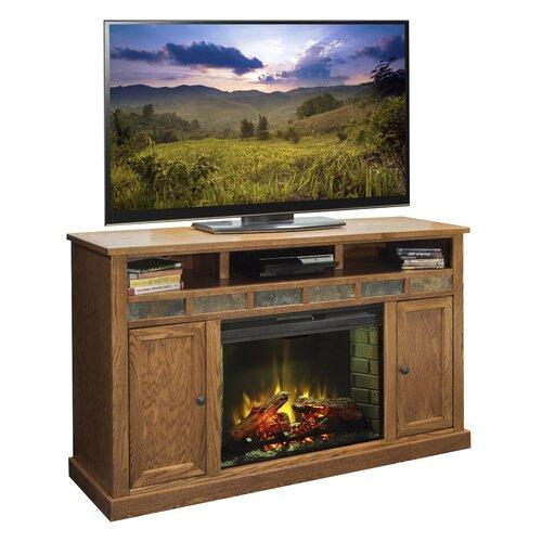 Legends Furniture Oak Creek 62 Tv Stand With Electric Fireplace Reviews Wayfair