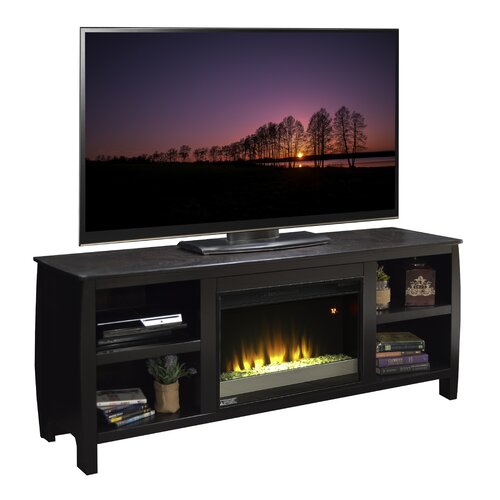 contemporary tv stand with electric fireplace reviews wayfair