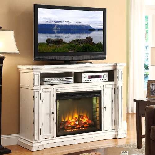"Legends Furniture New Castle 58"" TV Stand with Electric Fireplace"