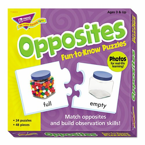 Fun To Know Opposites Puzzles