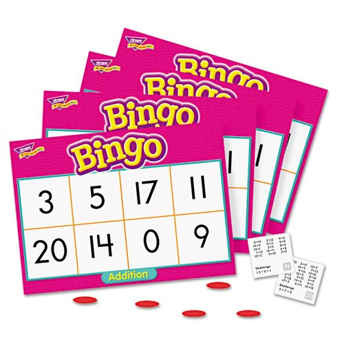 Young Learner Addition Bingo Game