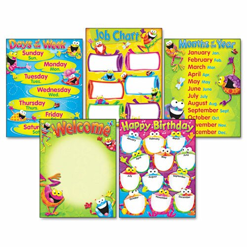 Frog-Tastic Learning Chart Combo Pack (Set of 5)