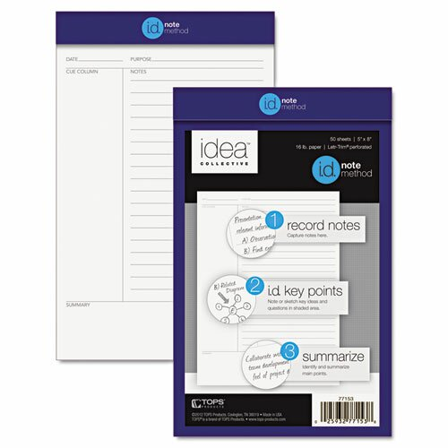 Tops Cornell Note Taking System Legal Pad
