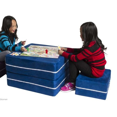 Jaxx Zipline Jr. Convertible Kids Sleeper and Ottoman