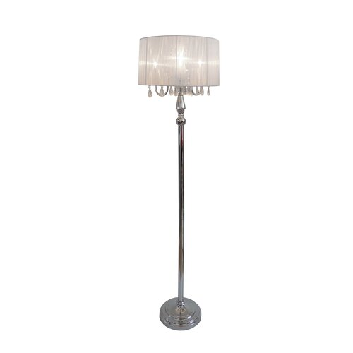 rages princess floor lamp with sheer drum shade reviews wayfair. Black Bedroom Furniture Sets. Home Design Ideas