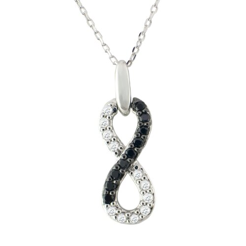 Sterling Silver Infinity Cubic Zirconia Necklace