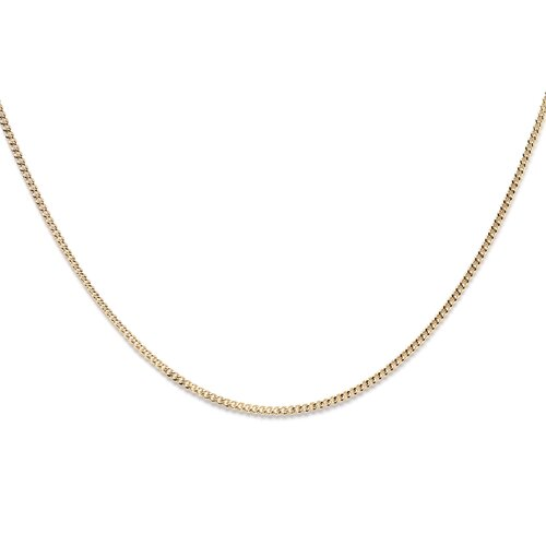 14k Gold over Silver 16 inches Curb Chain