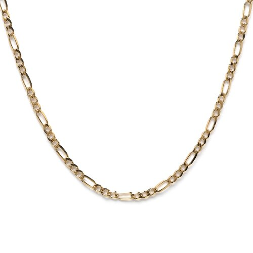 Sterling Essentials 14k Gold over 3mm Silver Figaro Chain
