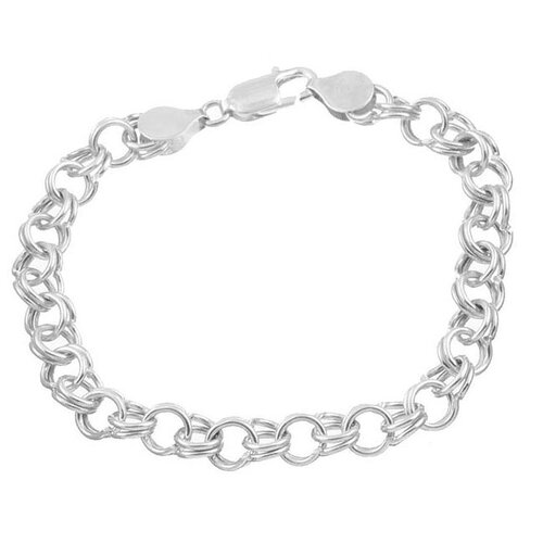 Sterling Essentials Sterling Silver 7 inches 9-mm Classic Charm Bracelet