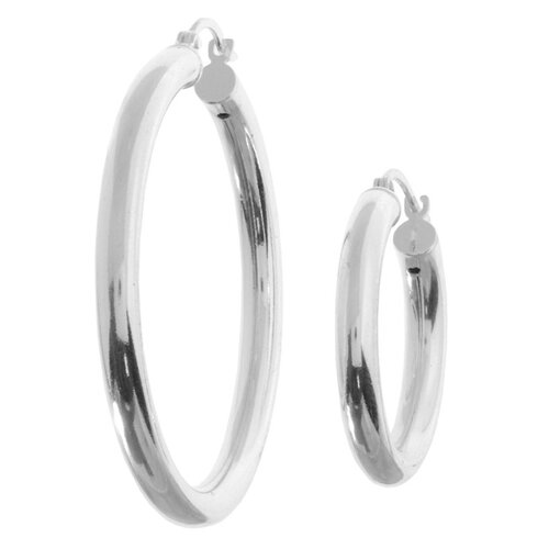 Sterling Essentials Sterling Silver Classic Hoop Earrings