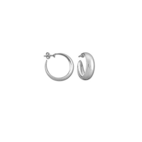Sterling Essentials Sterling Silver 30mm Wedding-band Hoop Earrings