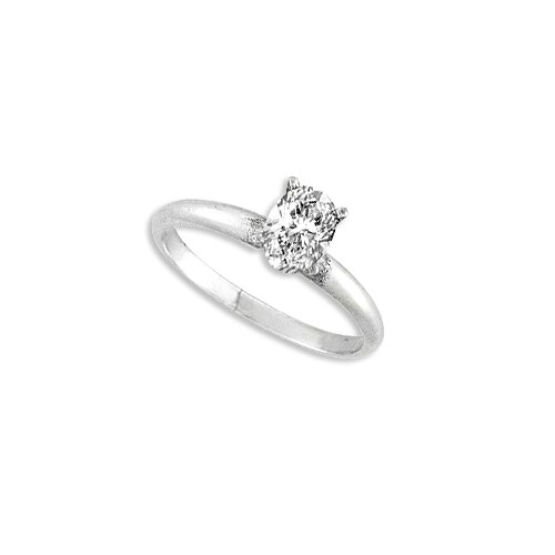 Sterling Essentials Sterling Silver Cubic Zirconia Engagement-inspired Ring