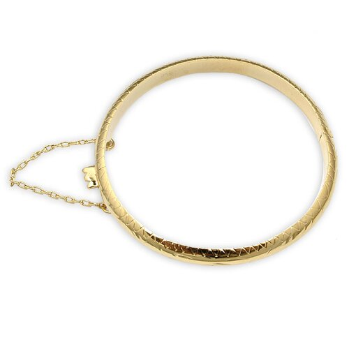Sterling Essentials 14k Gold over Silver Child's subtle Engraved Bangle