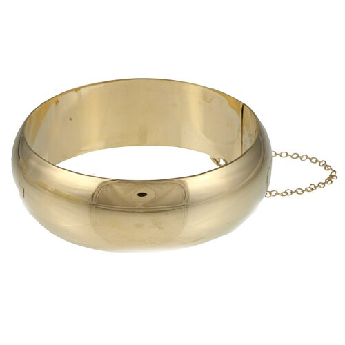Sterling Essentials 14k Gold over Silver 20mm Polished Bangle Bracelet