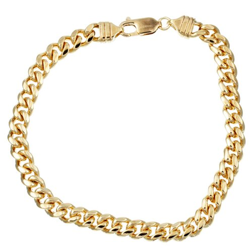 Sterling Essentials 14k Gold over Silver 8.5 inches Miami Cuban Link Bracelet
