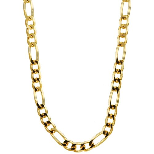 Sterling Essentials 14k Gold over 4mm Silver Figaro Chain