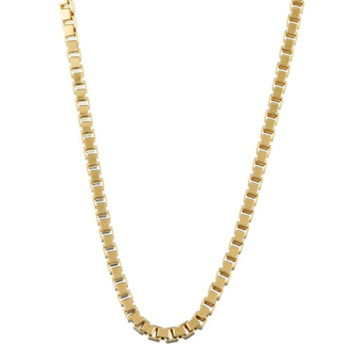Sterling Essentials 14k Gold over Silver Venetian Box Chain