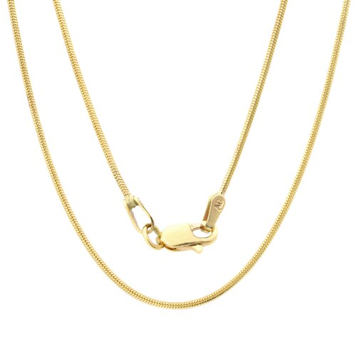 Sterling Essentials 14K Gold Snake Chain Necklace