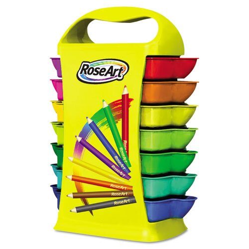 Mini Colored Pencils Classroom Set with Storage Caddy