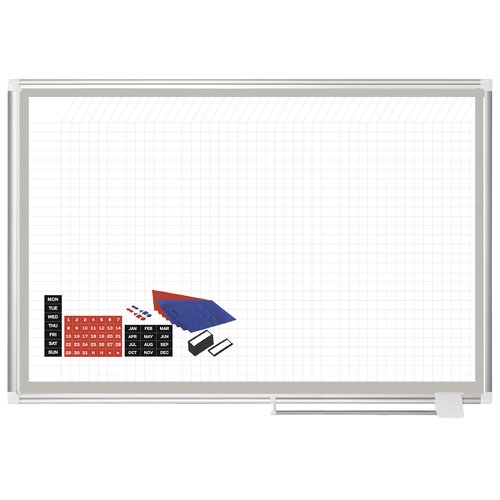 Mastervision All Purpose Porcelain Planner Whiteboard