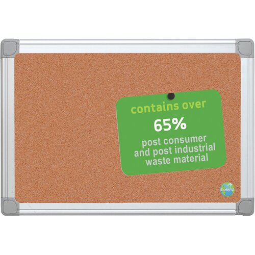 "Mastervision Earth 1' 6"" x 2' Bulletin Board"