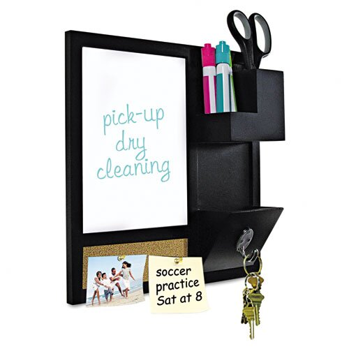 """Mastervision Combo 1' 4"""" x 1' 4"""" Dry Erase Board and Bulletin Board"""