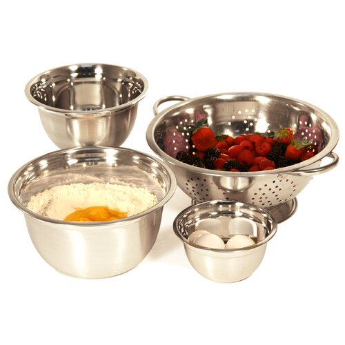 4-Piece Mixing Bowl and Colander Set