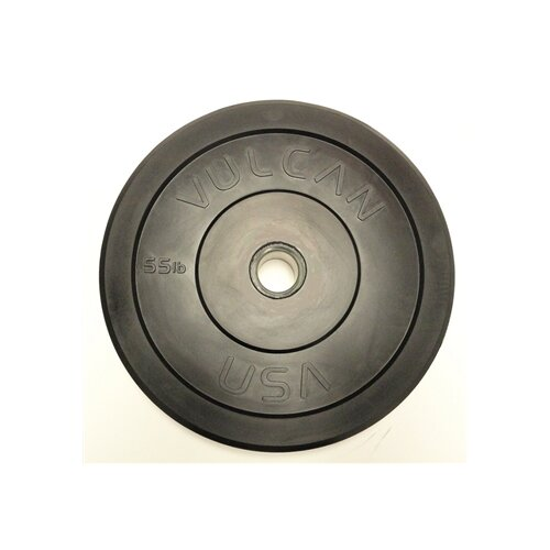 55 lb Black Bumper Plate (Set of 2)