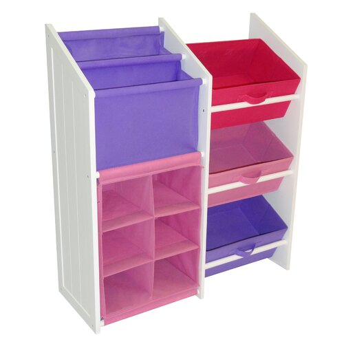 Super Storage with 3 Bins, Book Holder and 6-Slot Cubby