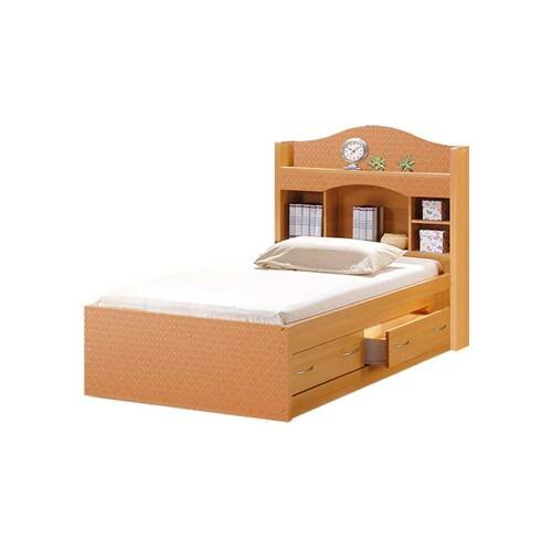 Twin Platform Bed with 2 Drawers and Bookcase Headboard | Wayfair