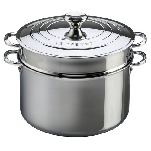 9-qt. Stockpot with Lid and Deep Colander Insert