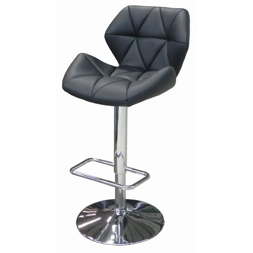 Whiteline Imports Aaron Adjustable Bar Stool with Cushion