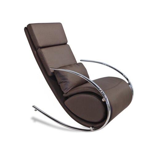 Whiteline Imports Chloe Rocker Chair and Ottoman