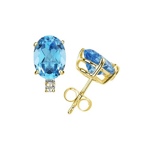 Szul Jewelry Oval Cut Gemstone Stud Earrings