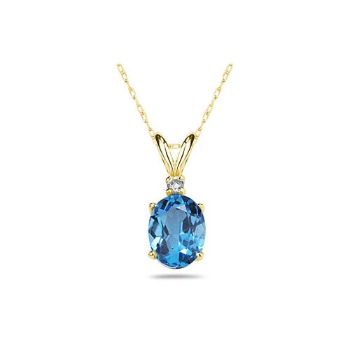 Szul Jewelry Oval Cut Gemstone Pendant Set