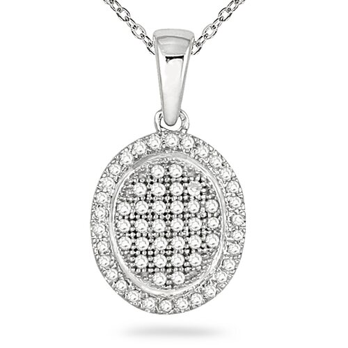 Szul Jewelry 14K White Gold Round Cut Diamond Pendant