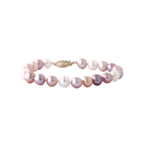 Round Cut Freshwater Cultured Pearl Strand Bracelet