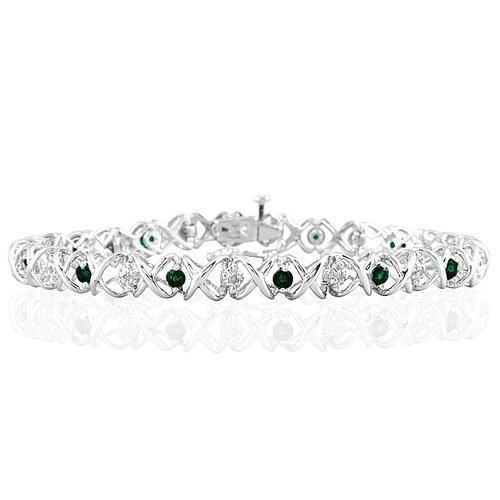Szul Jewelry Round Cut Diamond Link Bracelet
