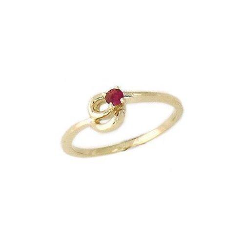 Round Cut Gemstone Twist Ring