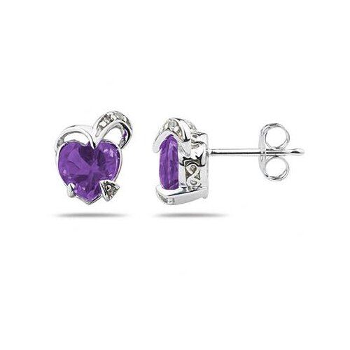 Heart Cut Gemstone Stud Earrings