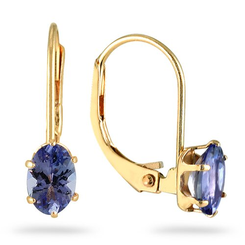 Oval Cut Tanzanite Hoop Earrings