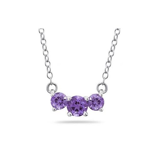 14K Round Cut Gemstone Pendant Necklace
