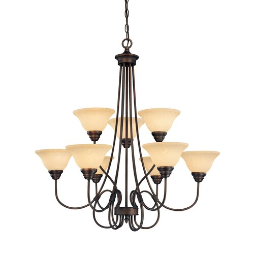 Millennium Lighting Fulton 9 Light Chandelier