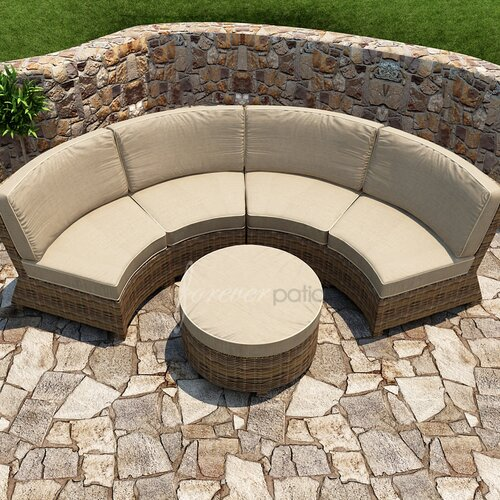 Cypress 3 Piece Sectional Deep Seating Group with Cushion